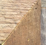 Application hole in wood