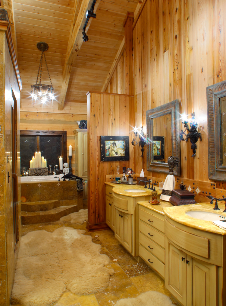 Image gallery log home bathrooms for Log home bathroom ideas