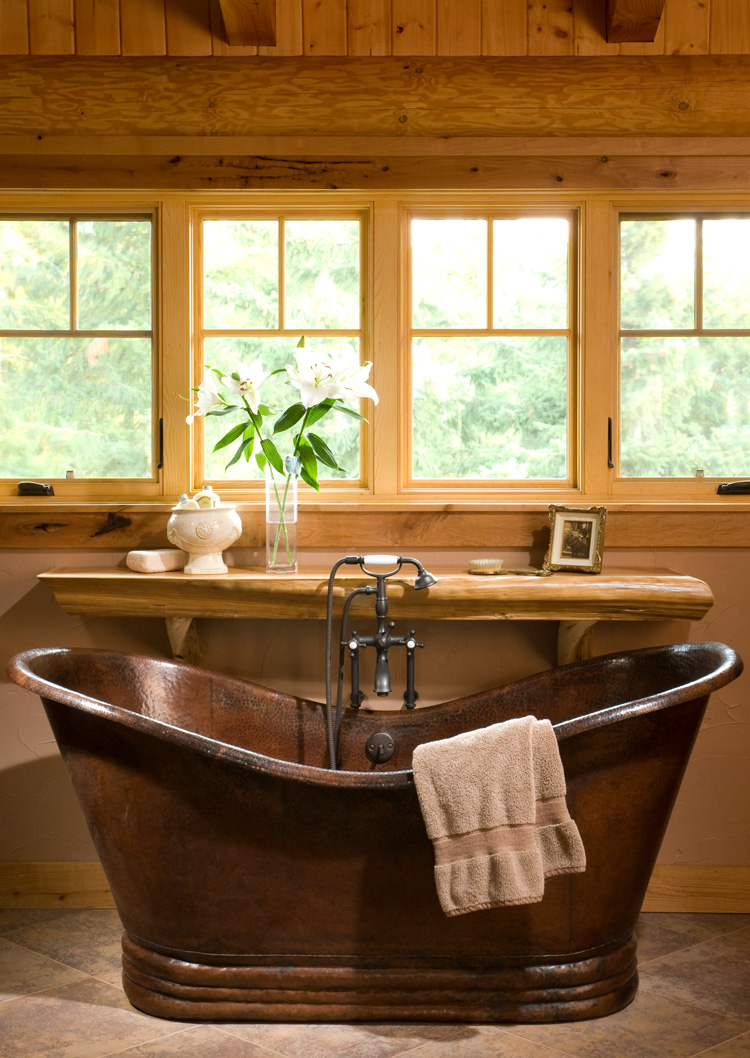 log home bathrooms. Black Bedroom Furniture Sets. Home Design Ideas