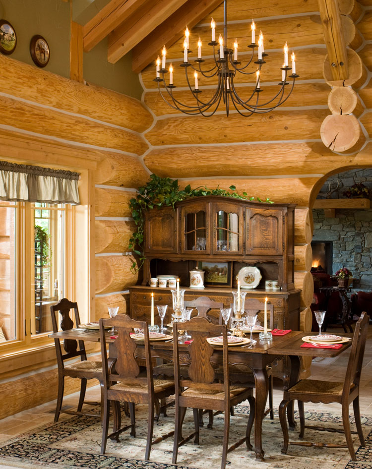 Log Home Dining.