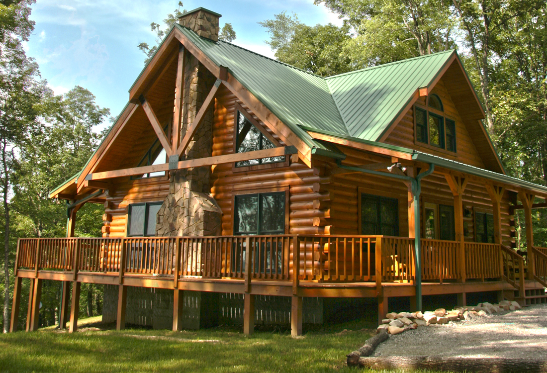 Log home exteriors for Log home pictures exterior