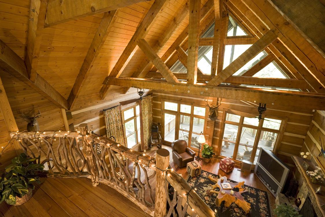 log home interiors. Lifeline Interior Dark  Log Home Interiors