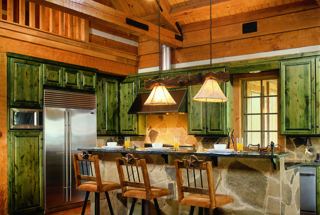 Log home kitchens Home kitchen