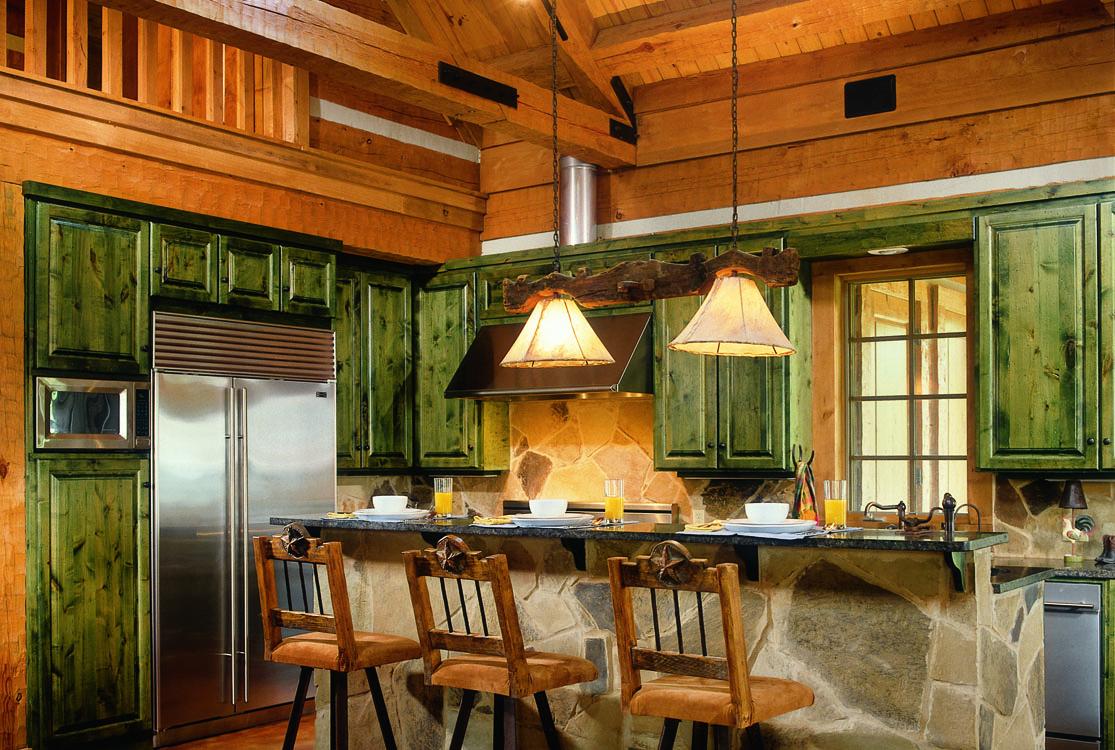 Log home kitchens Home kitchen