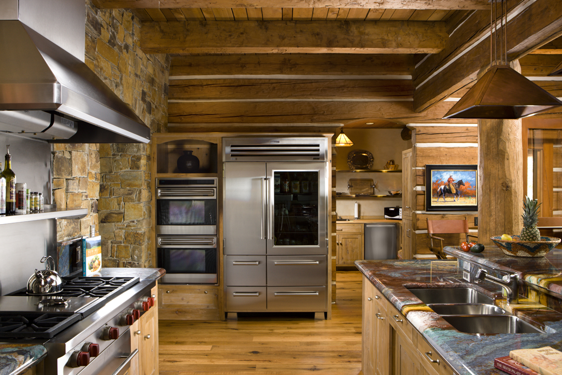Log home kitchens for Log home kitchens gallery